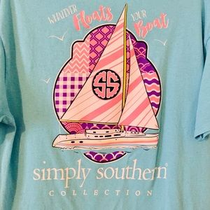 Simply Southern Whatever Floats Your Boat Shirt L